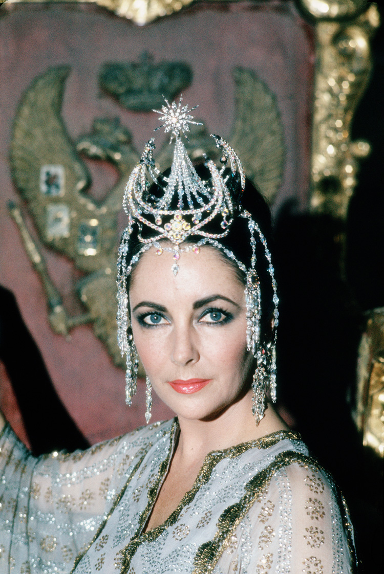 Elizabeth Taylor photo taken in 1975 during the filming of The Blue Bird by Milton H Greene